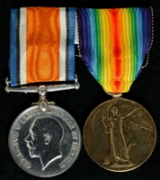 Joseph Frederick Adams : (L to R) British War Medal; Allied Victory Medal