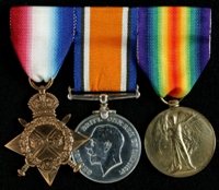 James Adshead : (L to R) 1914-15 Star; British War Medal; Allied Victory Medal