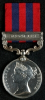 William Allen : India General Service Medal (1854) with clasp 'Samana 1891'