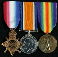 John S. Anderson  : (L to R) 1914-15 Star; British War Medal; Allied Victory Medal