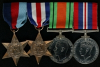 E. Anderton : (L to R) 1939-45 Star; France and Germany Star; 1939-45 Defence Medal; 1939-45 War Medal