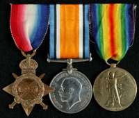 James Andrews : (L to R) 1914-15 Star; British War Medal; Allied Victory Medal