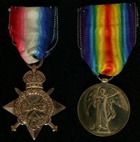 Arthur Ardron : (L to R) 1914-15 Star; Allied Victory Medal