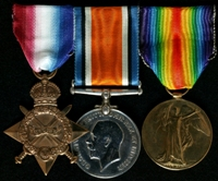William Ashton : (L to R) 1914-15 Star; British War Medal; Allied Victory Medal