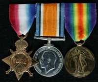 Thomas W. Atkins : (L to R) 1914-15 Star; British War Medal; Allied Victory Medal
