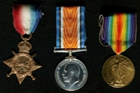 Edward Atkinson : (L to R) 1914-15 Star; British War Medal; Allied Victory Medal