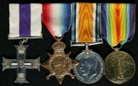 Robert Wilfred Balleine : (L to R) Military Cross; 1914-15 Star; British War Medal; Allied Victory Medal