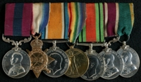 Fred Bamber : (L to R) Distinguished Conduct Medal; 1914-15 Star; British War Medal; Allied Victory Medal; 1939-45 Defence Medal; Meritorious Service Medal; Territorial Efficiency Medal