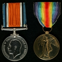 Geoffrey Bamford : (L to R) British War Medal; Allied Victory Medal