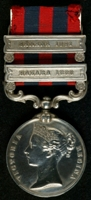 John Arthur Barlow : India General Service Medal (1854) with clasps 'Hazara 1888', 'Samana 1891'