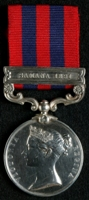 Thomas Barrett : India General Service Medal (1854) with clasp 'Samana 1891'