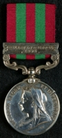 J. F. Barrow : India Medal with clasp 'Relief of Chitral 1895'