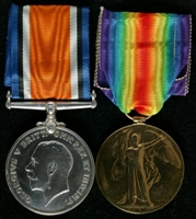 Albert Edward Bell : (L to R) British War Medal; Allied Victory Medal