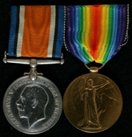 Frederick J. Carter : (L to R) British War Medal; Allied Victory Medal