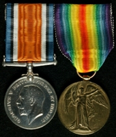Wilfred Chadwick : (L to R) British War Medal; Allied Victory Medal
