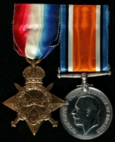 Elijah Chamberlain : (L to R) 1914-15 Star; British War Medal