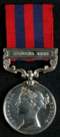 Charles Henry Charlton : India General Service Medal (1854) with clasp 'Samana 1891'