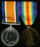 Ernest Charlton : (L to R) British War Medal; Allied Victory Medal