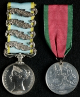 John Jeken Cockburn : (L to R) Crimea Medal with clasps 'Alma', 'Balaklava', 'Inkermann', 'Sebastopol'; Turkish Crimea Medal (British Issue)