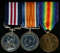 George Collins : (L to R) Military Medal; British War Medal; Allied Victory Medal