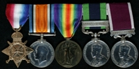 John Connor : (L to R) 1914-15 Star; British War Medal; Allied Victory Medal; India General Service Medal with clasp 'Burma 1930-32'; Long Service and Good Conduct Medal