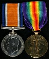 Thomas Henry Davison : (L to R) British War Medal; Allied Victory Medal