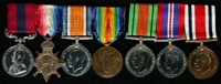 Rupert Dennerley : (L to R) Distinguished Conduct Medal; 1914-15 Star; British War Medal; Allied Victory Medal; 1939-45 Defence Medal; 1939-45 War Medal; Special Constabulary Long Service Medal