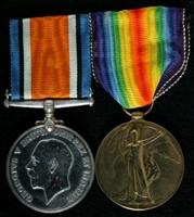 George Dickinson : (L to R) British War Medal; Allied Victory Medal