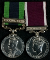 John Dodd : (L to R) India General Service Medal with clasp 'Burma 1930-32'; Long Service and Good Conduct Medal