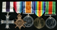 Coutts Bewley Douglas : (L to R) Military Cross; 1914-15 Star; British War Medal; Allied Victory Medal; 1939-45 Defence Medal