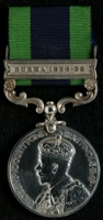 William Douglas : India General Service Medal with clasp 'Burma 1930-32'