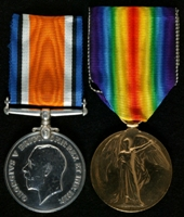 Charles Johnson Downs : (L to R) British War Medal; Allied Victory Medal