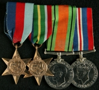 John Doyle : (L to R) 1939-45 Star; Pacific Star; 1939-45 Defence Medal; 1939-45 War Medal