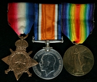 Herbert Dunkerley : (L to R) 1914-15 Star; British War Medal; Allied Victory Medal