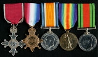 Norman Dunkerley : (L to R) Member of the Most Excellent Order of the British Empire  (Civil Division); 1914-15 Star; British War Medal; Allied Victory Medal; 1939-45 Defence Medal