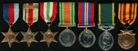 Herbert Ellison : (L to R) 1939-45 Star; Africa Star with clasp '8th Army'; Italy Star; 1939-45 Defence Medal; 1939-45 War Medal; Efficiency Medal; Dunkirk Medal