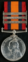 William Emmott : Queen's South Africa Medal with clasps 'Natal', 'Belfast', 'South Africa 1901'
