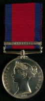 William Evans : Military General Service Medal with clasp 'Guadaloupe'