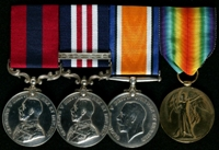 Mark Fisher : (L to R) Distinguished Conduct Medal; Military Medal and Bar; British War Medal; Allied Victory Medal