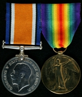 Joseph Fletcher : (L to R) British War Medal; Allied Victory Medal
