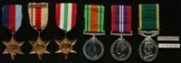 William Ford : (L to R) 1939-45 Star; Africa Star with clasp '1st Army'; Italy Star; 1939-45 Defence Medal; 1939-45 War Medal; Efficiency Medal; Unknown clasps '1967', '1968'
