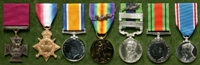 William Thomas Forshaw : (L to R) Victoria Cross; 1914-15 Star; British War Medal; Allied Victory Medal with 'Mentioned in Despatches' oak leaves; India General Service Medal with clasps 'Mahsud 1919-20', 'Waziristan 1919-21' and 'Mentioned in Despatches' oak leaf; 1939-45 Defence Medal; 1937 Coronation Medal