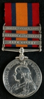 Leonard Frake : Queen's South Africa Medal with clasps 'Cape Colony', 'Orange Free State', 'South Africa 1902'