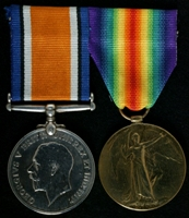 William Frost : (L to R) British War Medal; Allied Victory Medal