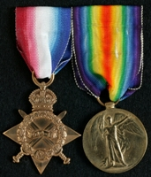 John Gannon : (L to R) 1914-15 Star; Allied Victory Medal