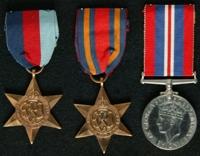 James Garrigan : (L to R) 1939-45 Star; Burma Star; 1939-45 War Medal