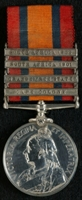 Albert Gascoyne : Queen's South Africa Medal with clasps 'Cape Colony', 'Orange Free State', 'South Africa 1901', 'South Africa 1902'