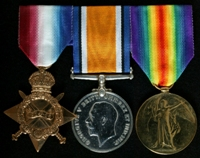 Gordon William Gee : (L to R) 1914-15 Star; British War Medal; Allied Victory Medal