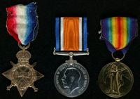 Norman Gordon : (L to R) 1914-15 Star; British War Medal; Allied Victory Medal