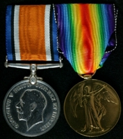 Arthur Green : (L to R) British War Medal; Allied Victory Medal